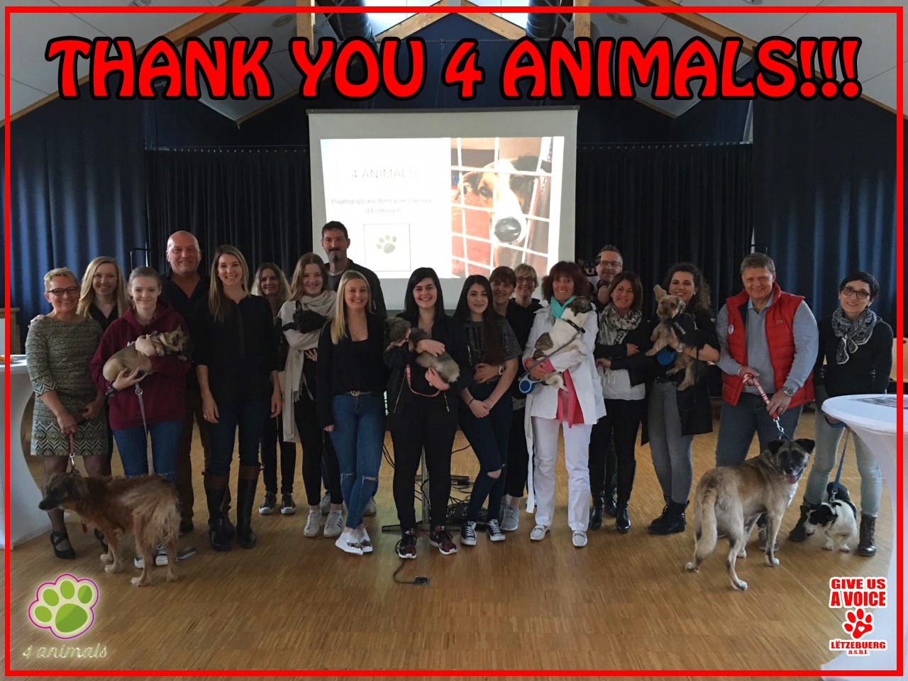 Thank you 4 Animals copy
